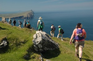Boomers are willing to spend to take experiential trips such as walking tours in Ireland. Photo from Walking the World